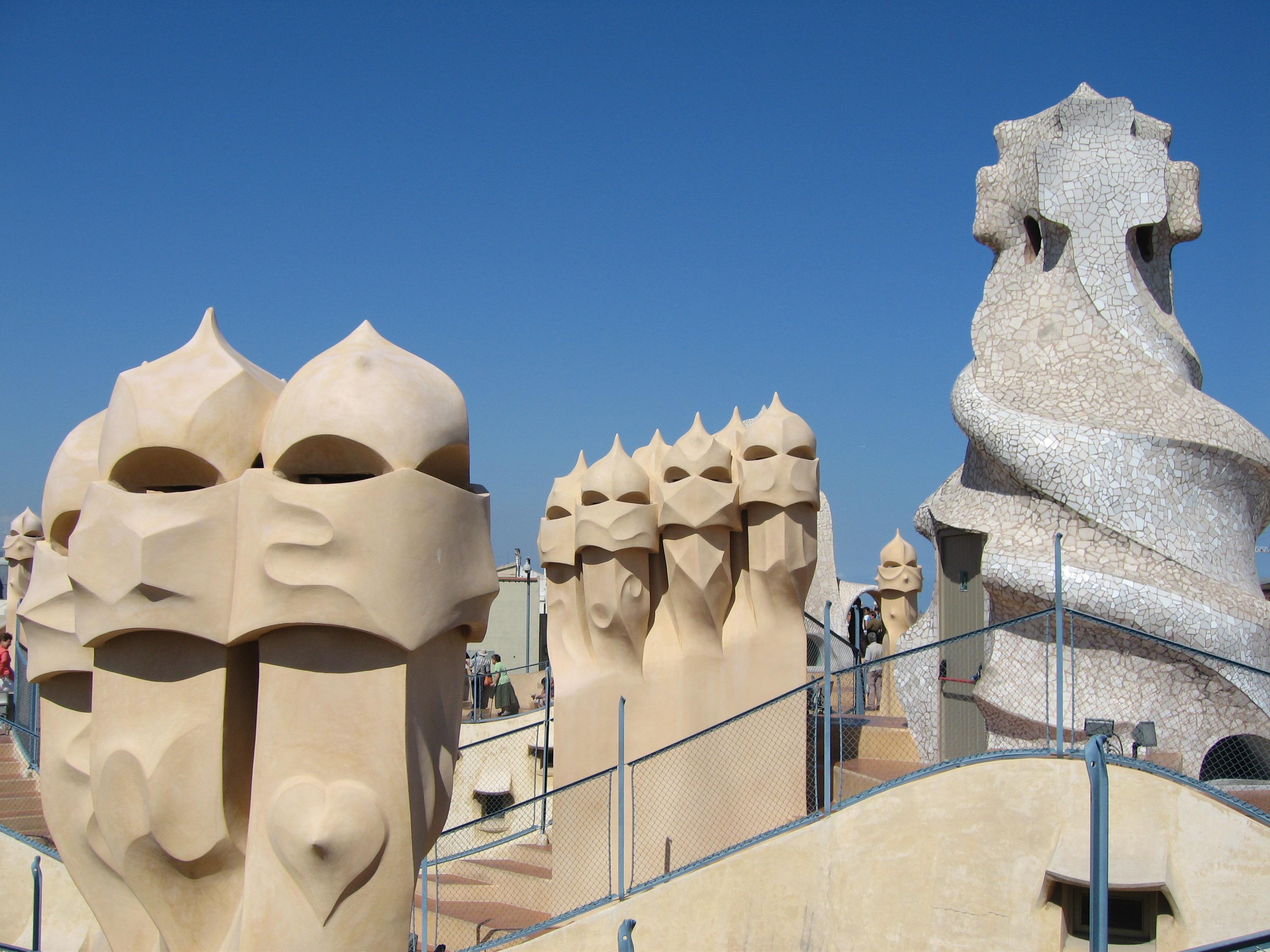 Rooftop Of Gaudi Apartment Building